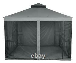 10' X 10' Patio Garden Gazebo Sunshade Easy Assembly Steel Frame With Netting