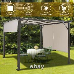 10' X 10' Pergola Kit Metal Frame Gazebo &Canopy Cover Patio Furniture Shelter