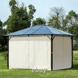 10 ft. X 12 ft. Outdoor Steel Frame Gazebo with Twin-Wall Polycarbonate Hardtop