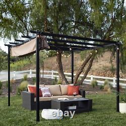 10 x 10 Pergola Kit Metal Frame Gazebo & Canopy Cover Patio Furniture Shelter