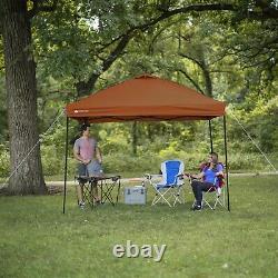 10' x 10' Straight Leg Instant Canopy Burnt Orange durable steel frame Heavy-dut