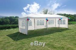 10'x30' Canopy Party Tent Wedding Tent Metal Frame Outdoor Gazebo With 5 sides New