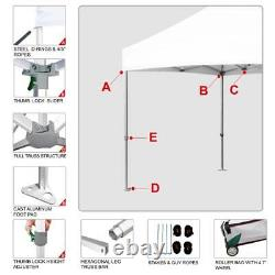 10X10 Commercial Ez Pop Up Aluminum Canopy Outdoor Instant Shade Party Tent