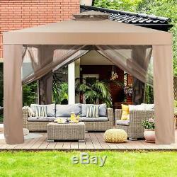 10x 10 Canopy Gazebo Tent Shelter Art Steel Frame House Party Patio Garden