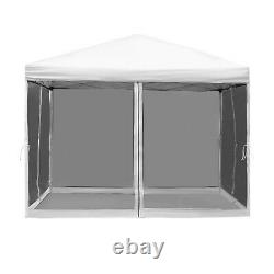 10x10 EZ Pop Up Party Wedding Tent Patio Gazebo Canopy Outdoor Mesh Silver withBag