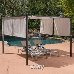 10x10 Gazebos for Patios Outdoor Canopy Pergola Backyard Gazebo Metal Frame New
