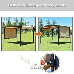 12' x 9' Pergola Kit Metal Frame Grape Gazebo and Canopy Cover