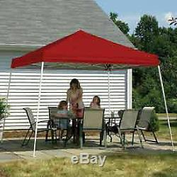 12x12 Pop Up Canopy with Slant Leg, Red Cover