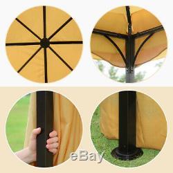 12x12 ft Gazebo Mosquito Netting & Side panels Heavy Duty Steel Frame