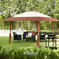 13' Outdoor Gazebo Patio Folding Canopy Portable Pop Up Gazebos Backyard 2 Tier