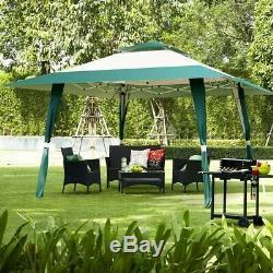 13' x 13' Outdoor Gazebo Steel Frame Vented Gazebo Waterproof Green Foldable New