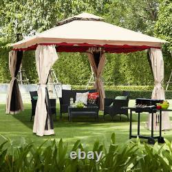13'x10'Outdoor Canopy Gazebo Art Steel Frame Party Patio Canopy Gazebo WithNetting