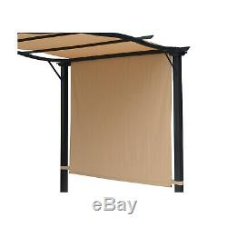 16.5 Steel Frame Fabric Outdoor Gazebo Retractable Canopy Shade Awning