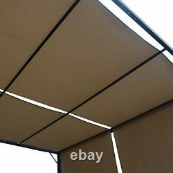 304392 Wendy Outdoor Steel Framed 10' Gazebo, Beige/Black