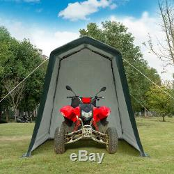 6'x8' Patio Tent Carport Storage Shelter Shed Car Canopy Heavy Duty Green
