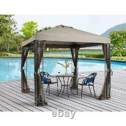 8 ft. X 8 ft. Rococo Gazebo with Mosquito Net With Powder Coated Steel Frame