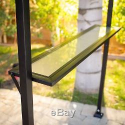 8 x 10 XL Metal Backyard Patio Louvered Pergola Pavilion Bbq Gazebo Canopy Cover
