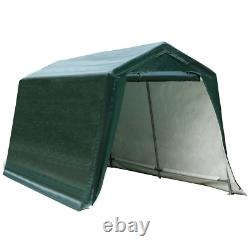 8'x14' Patio Car Tent Carport Storage Shelter Shed Canopy Heavy-Duty Steel Frame