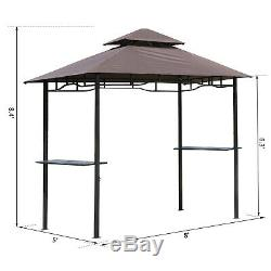 8x5 BBQ Gazebo Tent Pavilion Grill Canopy Shade Patio Garden Outdoor