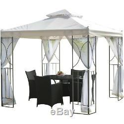 8x8 Gazebo Canopy Outdoor Patio Pergola Tent Sun Shade Awning Backyard Metal NEW