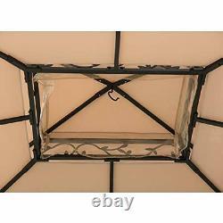A101003202 Baldwin 10 x 12 ft. Steel Gazebo with Decorative Vine Frame