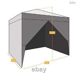AIRWAVE 3x3m Waterproof Blue Pop Up Gazebo Frame & Canopy Marquee Tent