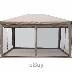 ALEKO 10x13 Ft Fully Enclosed Garden Gazebo Canopy Mesh Insect Screen Brown