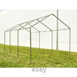 ALEKO Beige 10' x 20' Heavy Duty Outdoor Gazebo Canopy Tent with Sidewalls