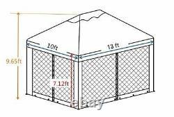 Abba Patio 10' x 13' Outdoor Patio Soft Top Gazebo with Mosquito Netting Mesh