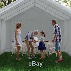 Abba Patio 12 x 20-Feet Heavy Duty Domain Carport, Car Canopy Shelter with 2 Rem
