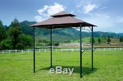 BBQ Tent Barbecue Canopy Outdoor Gazebo Grill Tent for BBQ Sun Shade Yard 8 ft