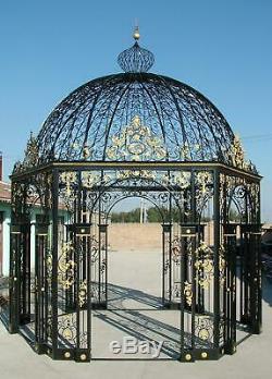 Beautiful Iron Victorian Style Birdhouse Estate Garden Gazebo Gazebo#14