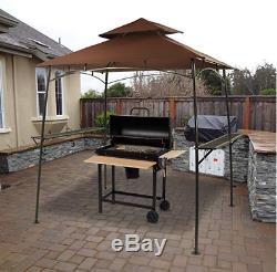 BestMassage Grill Gazebo Steel Frame Outdoor Backyard BBQ Grill Gazebo Brown