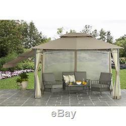 Better Homes & Gardens Parker Creek 10' X 12' Cabin Style Gazebo Shelter Canopy