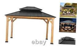 Bridgeport 10 x 12 ft. Cedar Framed Gazebo with Steel Hardtop