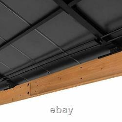 Bridgeport 12 x 14 ft. Cedar Framed Gazebo with Steel Hardtop