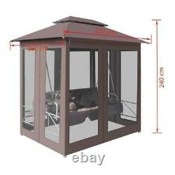 Canopy Gazebo Swing Rocking Chair Patio Daybed Stylish and Spacious Steel Frame