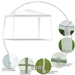 Canopy Tent Outdoor Events Party Wedding White 10x10Ft Gazebo Steel Frame Pop Up