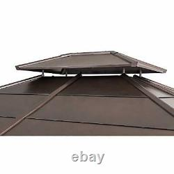 Chapman 11 x 13 ft. Cedar Framed Gazebo with Steel 2-Tier Hip Roof Hardtop, Bro