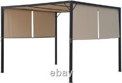 Christopher Knight Home 304392 Wendy Outdoor Steel Framed 10' Gazebo, Beige/Blac