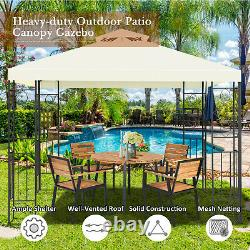 Costway 2 Tier 10'x10' Patio Gazebo Canopy Tent Shelter Awning Steel Frame