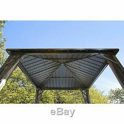 DAKOTA sojag Gazebo rustproof shelter 8x8 steel roof + mosquito net