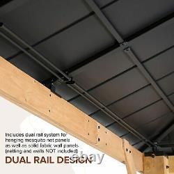 EAGLE PEAK 13 x 11 ft. Outdoor Cedar Framed Hardtop Gazebo, Steel Roof