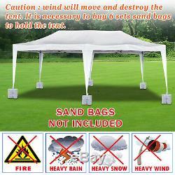EZ POP UP Wedding Party Fun Tent 10'x20' Folding Gazebo Canopy w Carry Bag
