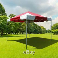 Event Party 10x10' Frame Tent Canopy Red White PVC West Coast Waterproof Gazebo