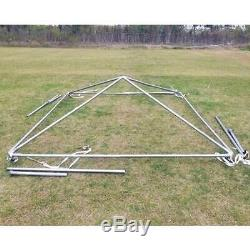 Event Party Frame Tent Canopy 10x10' Weekender PE Gazebo Economy Water Resistant