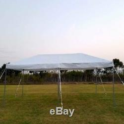 Event Party Frame Tent Canopy 10x20' Weekender PE Gazebo Economy Water Resistant
