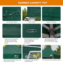 Forest Green 10x10 Pop Up Canopy Tent Outdoor Instant Party Gazebo Shade Tent