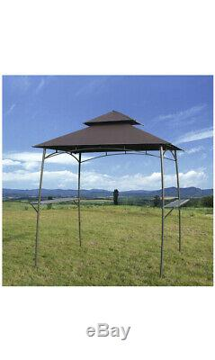 GOJOOASIS BBQ Grill Gazebo with2 LED LightsBarbecue Canopy Tent, 2-Tier Soft Top