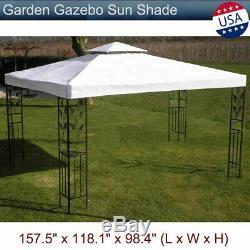 Garden Gazebo Sunshade Patio Awning Canopy Tent Yard Shelter Steel Frame Marquee